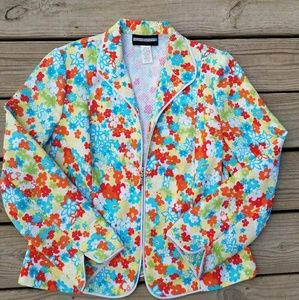 Requirements Floral Blazer Jacket Size 14